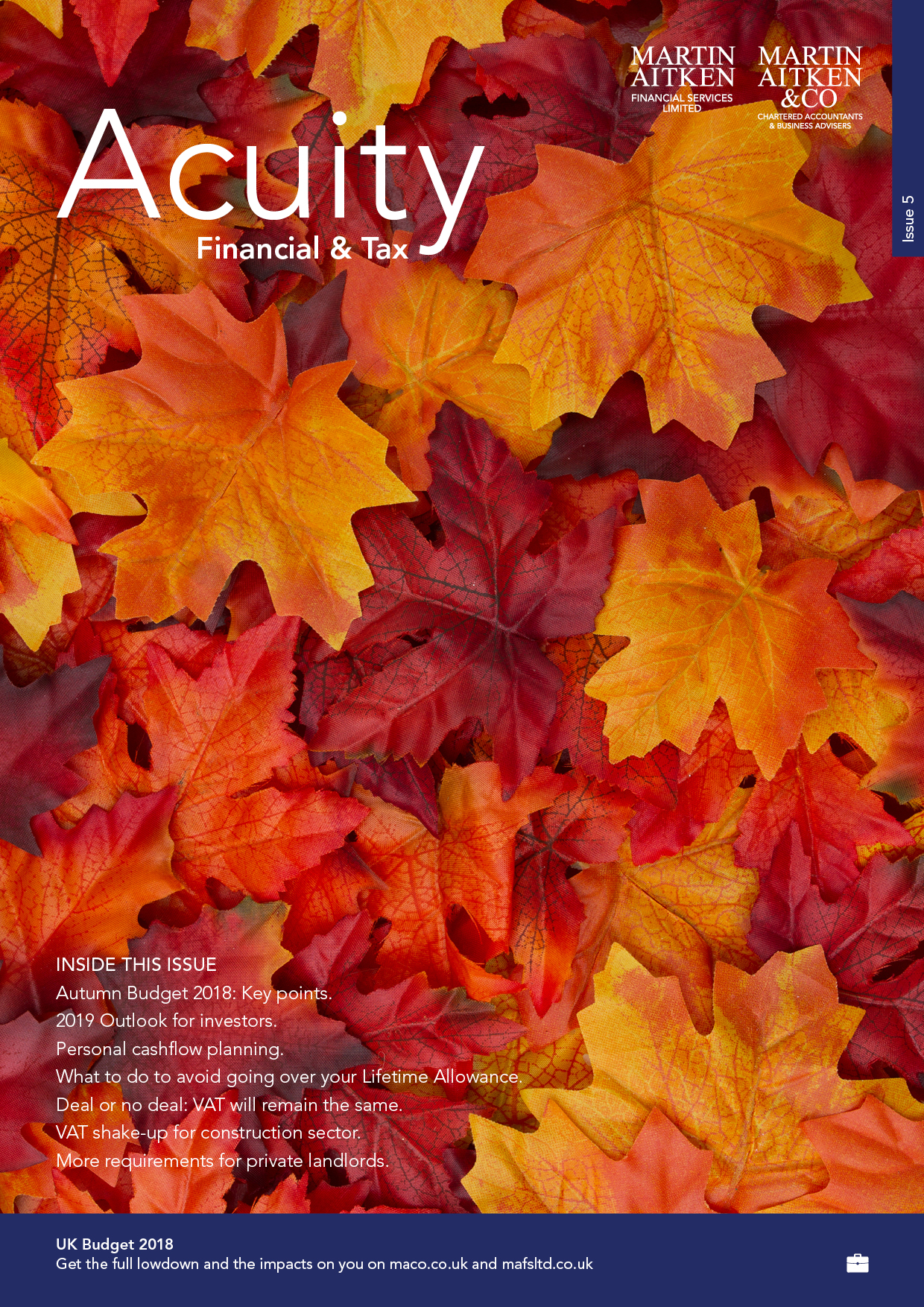 Finance & Tax Acuity Autumn 2018-19