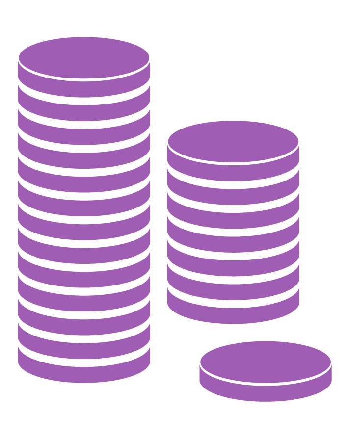 MACO TPL coin stack purple